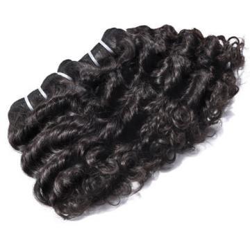8 in. Virgin Brazilian/Peruvian/Indian Human Hair Extension Deep Curly 3 Bundles