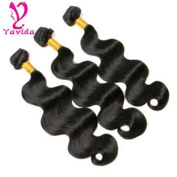 Unprocessed 300g 7A Virgin Peruvian Body Wave Human Hair Weave 3 Bundles