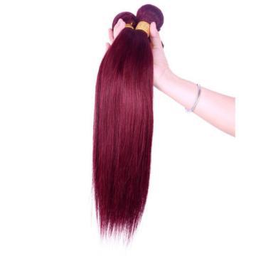 3100g Unprocessed Virgin Peruvian Silky Straight Human Hair Weave 18inch 99J#