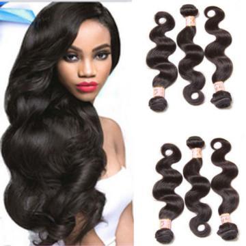 Top 7A Peruvian Body Wave Virgin Human Hair Extensions 3 Bundles/300g