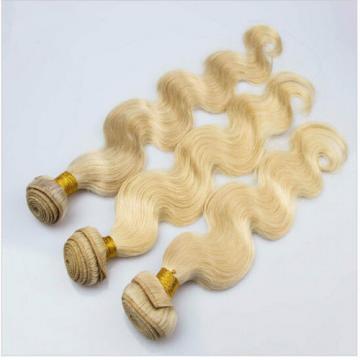 100% Peruvian Virgin Blonde Hair  Extensions 3 Bundles Humam Body Wave Hair