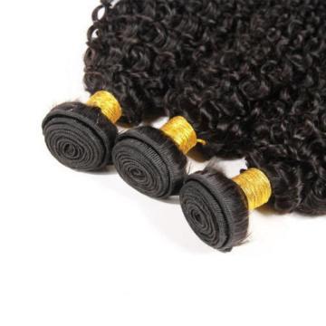 3 Bundles Kinky Curly Peruvian Virgin Hair Extensions Weft Human Hair Weave lot