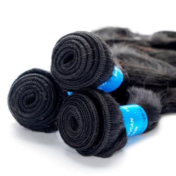 3 Bundles Body Wave Human Hair Weft Virgin Peruvian Hair Extensions Weave Black