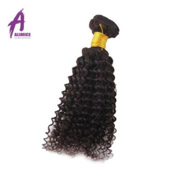 Lace Closure With Bundles Peruvian Virgin Human Hair Weave Kinky Wave