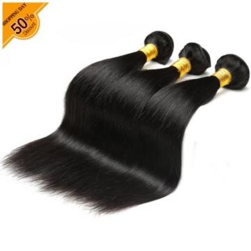 Peruvian Lace Frontal 13*4''with 3bundles Silk Straight Virgin Hair Extensions