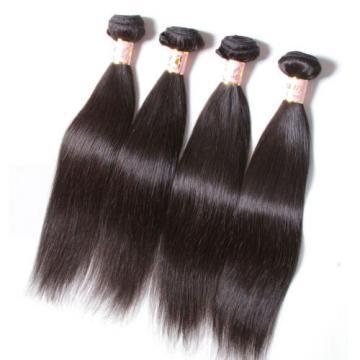 100% Unprocessed Peruvian Straight Virgin Human Hair Extensions 200g/4 Bundles