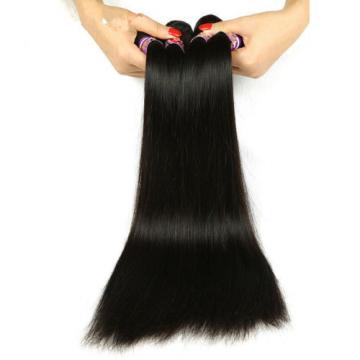 300G/3 Bundles Peruvian Virgin Human Hair Extensions Weft Virgin Straight Hair