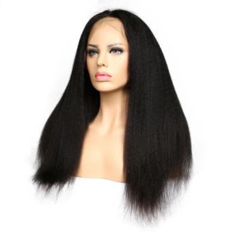 7A Virgin Human Hair Glueless Kinky Straight Lace Front Wigs/Full Lace Wigs