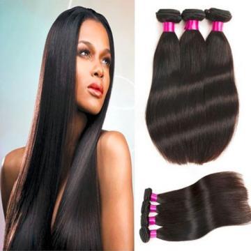 3 bundles Peruvian Straight Wave Virgin Human Hair Extension Grade 6A 300g