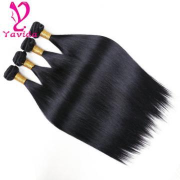4 Bundle Peruvian Straight Hair 8A Virgin Hair Bundle Deals Human Hair Extension