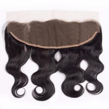 13*4 Lace Closure with 3 Bundles 300g Body Wave Peruvian Virgin Human Hair Weft