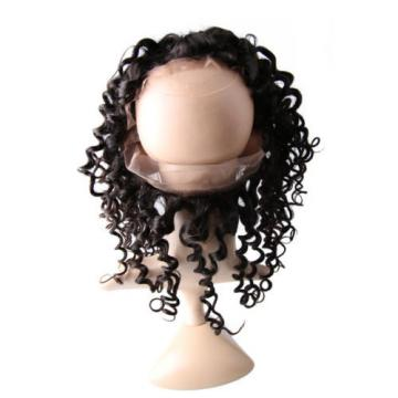 Peruvian Virgin Human Hair 360 Lace Frontal Closure Deep Curly Lace Band Frontal