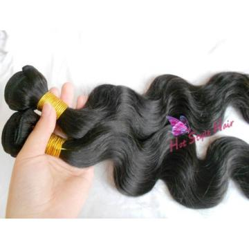 Peruvian Virgin Hair Extension 1 Bundle Black Body Wave Soft Hair Weft