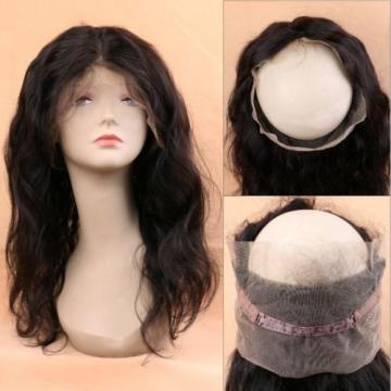 Peruvian Virgin Human Hair 360 Lace Frontal Closure Wavy Full Lace Closure Black