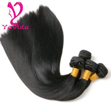 7A Virgin Peruvian Hair Straight Hair Human Hair Extensions Weave 4 Bundles 400g