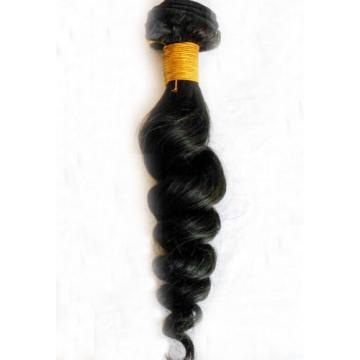 Peruvian Virgin Hair Extension 1 Bundle Black Loose Wave Soft Hair Weft