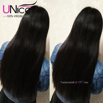 Peruvian Virgin Hair Straight Human Hair 4 Bundles/400g UNice 8A Hair Extensions