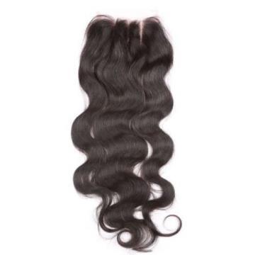 "8A 4""X4"" Lace Closure Brazilian Virgin Peruvian Human Hair  hairpiece extension"