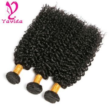 Kinky Curly 100% Unprocessed Virgin Peruvian Human Hair Extensions Weft 3 Bundle
