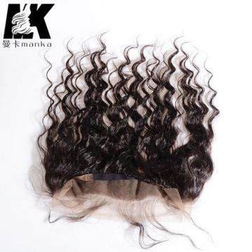 13x2inch 360 Lace Frontal Peruvian Virgin Human Hair Lace Band Deep Wave