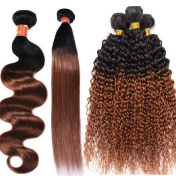 3Bundles Best Ombre Color T1B/30 100% Virgin Peruvian Human Hair Weave Styles