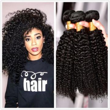 Peruvian Virgin Hair Curly Weave Human Hair Extension 3 Bundle 300g Naturl Black