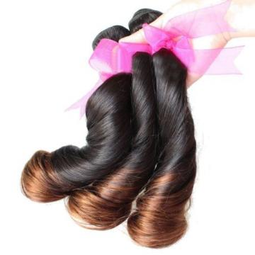 Ombre Peruvian Virgin 3 Bundles/300g  Loose Wave 1b/30 Omb Human Hair Extensions