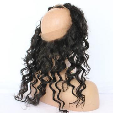 Peruvian Virgin Human Hair 360 Lace Frontal Closure Wavy Full Lace Band Frontal