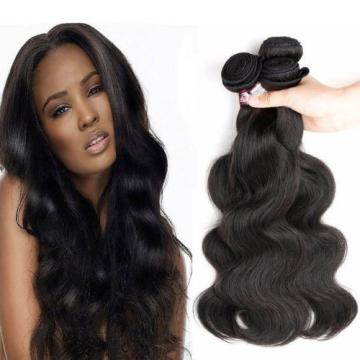 8A Peruvian Virgin Human Hair Extensions Weave Weft Body Wave 3 Bundles 150g