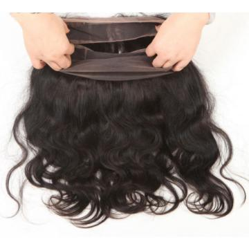 7A 2Bundle Peruvian Virgin Human Hair Body Wave+360 Lace Frontal with Baby Hair