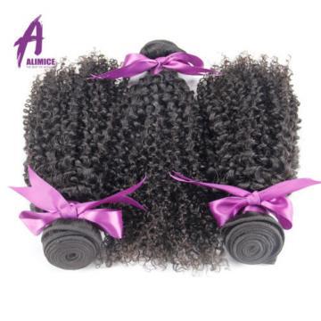 Peruvian Hair Virgin Human Hair Extensions Weave Kinky Curly 3 Bundles 300g