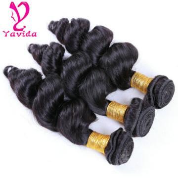 Virgin Peruvian Hair Weave 300g/ 3 Bundles Loose Wave Human Hair Extensions Weft