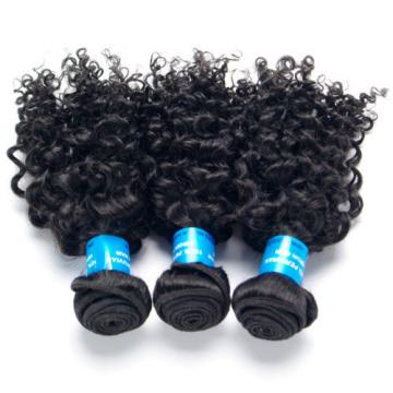 BEST 3 Bundles/150g Peruvian Human Hair Extensions Virgin Curly Hair Weft Weave