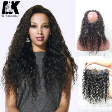 8A Peruvian Virgin Hair 360 Lace Frontal Closure Water Wave 22x4x2 Full Lace