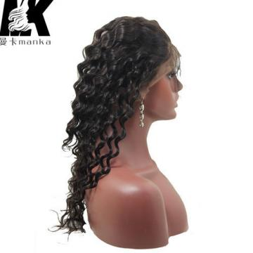 Peruvian Virgin Hair 360 Lace Frontal Band Deep Wave with Baby Hair 360 Frontal