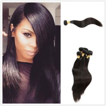 7A Straight Peruvian Virgin Hair Bundles Wefts 100% Human Hair Extensions 18inch