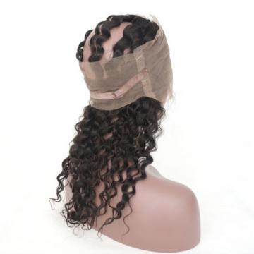 360 Full Lace Frontal Closure Peruvian Virgin Hair Deep Wave with Baby Hair