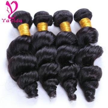 7A 4 Bundles Peruvian Loose Wave Unprocessed Virgin Human Hair Weft 400g
