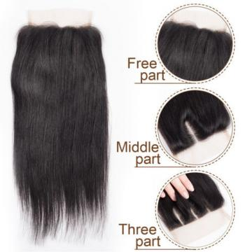 Peruvian Straight Virgin Hair 3 Bundle Straight Human Hair Weft with 1pc Closure