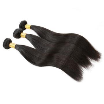 "7A Peruvian Virgin Straight Hair Wefts Human Remy Silky Hair Wavy Bundles 20"""