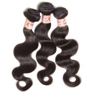 "13x4"" Lace Closure With 3 Bundles Body Wave Peruvian Virgin Human Hair 300g"