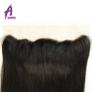 Straight Hair 13*4 Lace Frontal Closure 100% Peruvian Virgin Human Hair 8A Thick