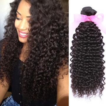 Kinky Curly Virgin Peruvian Human Hair 3 THICKER Bundles Virgin Hair Bundles 8A