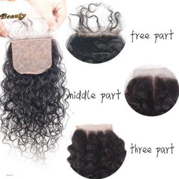Peruvian Virgin Hair Body Wave Human Hair 4x4 Free /Middle/Three Part Silk Base