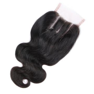 Peruvian Body Wave 4*4 1PC Lace Closure with 3 Bundles Human Virgin Hair Weave