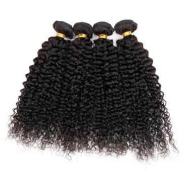 4 bundles Peruvian Virgin Remy Hair kinky curly Human Hair Weave Extensions