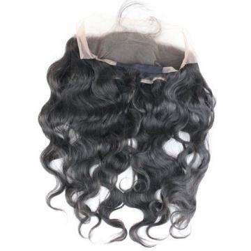 22x4inch 360 Lace Band Frontal Peruvian Virgin Human Hair Body Wave Back Closure