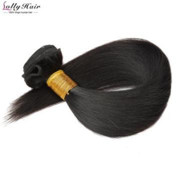 100G/2 Bundle 8'' Peruvian Virgin Human Hair Extension Weft Virgin Straight Hair