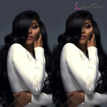 Lollyhair 8A Peruvian Body Wave Huamn Hair 3Bundles Virgin Remy Human Hair Weave