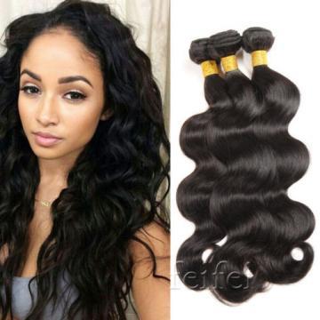 3 Bundles 7A Virgin Human Hair Extensions Weave EP Brazilian Peruvian 200G
